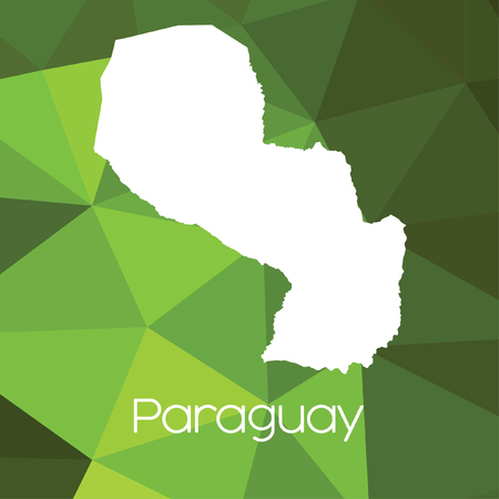 paraguay: A Map of the country of Paraguay Stock Photo