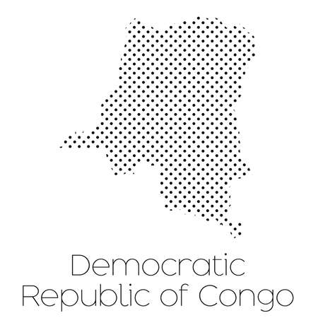 congo: A Map of the country of Democratic Republic of Congo Stock Photo