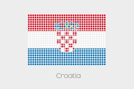 croatia: A Flag Illustration of Croatia Stock Photo