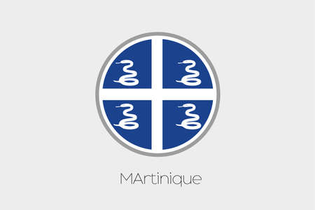 martinique: A Flag Illustration of the country of Martinique Stock Photo