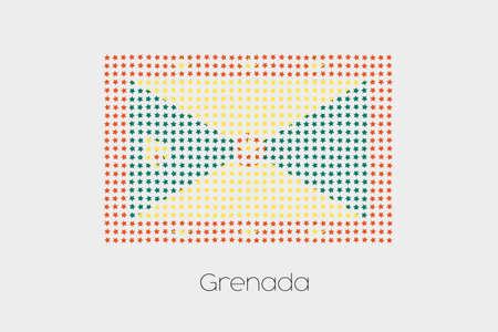 grenada: A Flag Illustration of Grenada