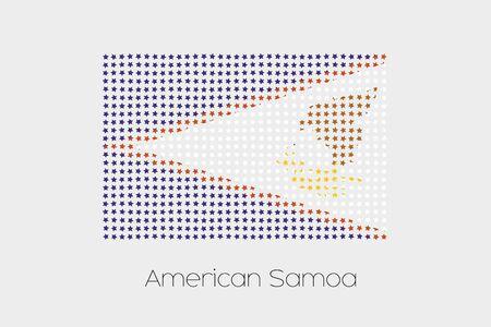 american media: A Flag Illustration of American Samoa Stock Photo