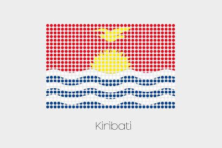 kiribati: A Flag Illustration of Kiribati