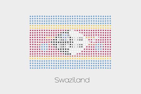 swaziland: A Flag Illustration of Swaziland