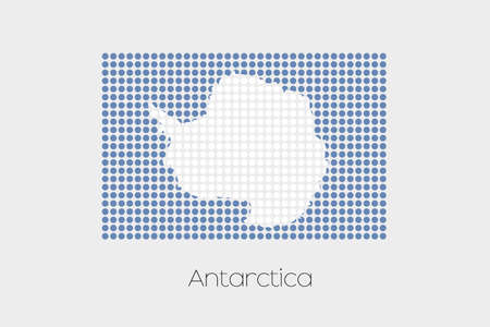 antartica: A Flag Illustration of Antartica