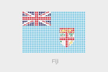 fiji: A Flag Illustration of Fiji