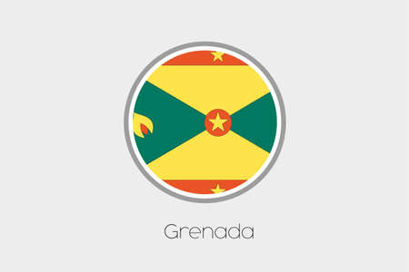 grenada: A Flag Illustration of the country of Grenada