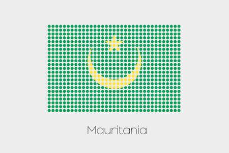 mauritania: A Flag Illustration of Mauritania Stock Photo