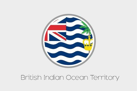 indian ocean: A Flag Illustration of the country of British Indian Ocean Territory