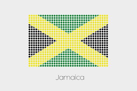 jamaica: A Flag Illustration of Jamaica Stock Photo