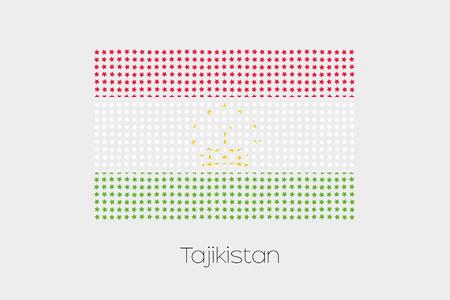 tajikistan: A Flag Illustration of Tajikistan Stock Photo