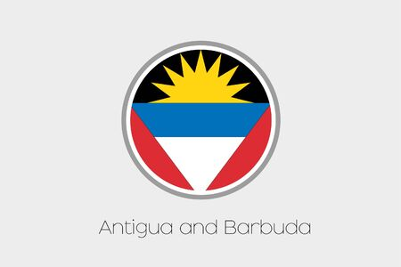 antigua: A Flag Illustration of the country of Antigua and Barbuda