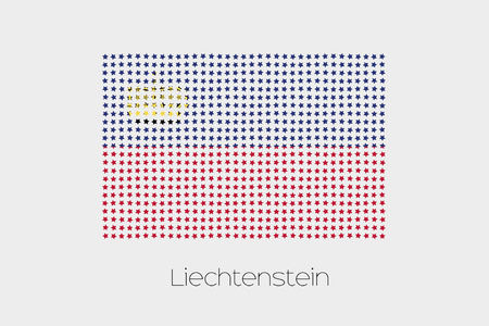 liechtenstein: A Flag Illustration of Liechtenstein Stock Photo