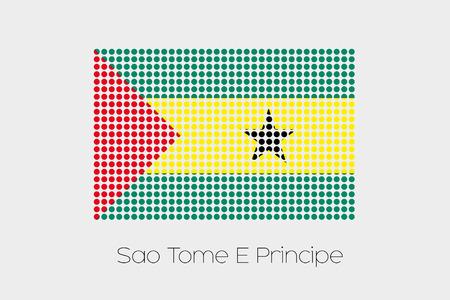 principe: Una bandera Ilustración de Santo Tomé y Príncipe