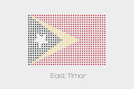 east: A Flag Illustration of East Timor Stock Photo