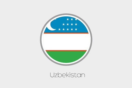 uzbekistan: A Flag Illustration of the country of Uzbekistan