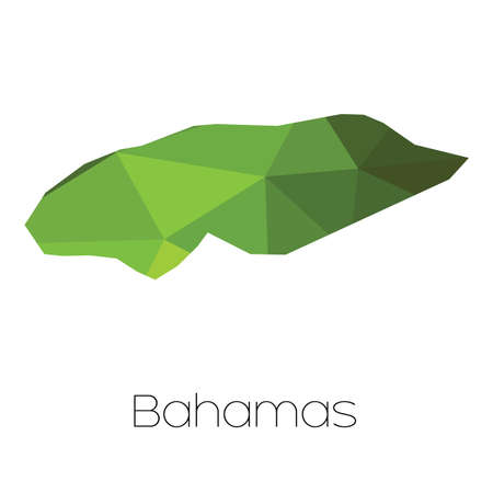bahamas map: A Map of the country of Bahamas Stock Photo