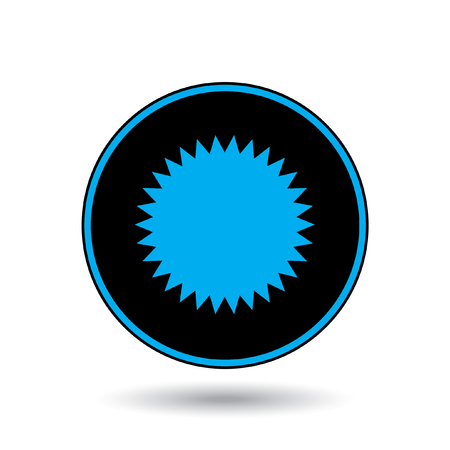 spikey: An Icon Illustration Isolated on a Background - Spikey Circle Stock Photo