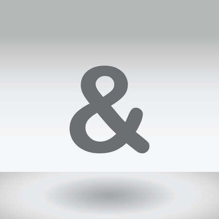 ampersand: An Icon Illustration Isolated on a Background - Ampersand Stock Photo