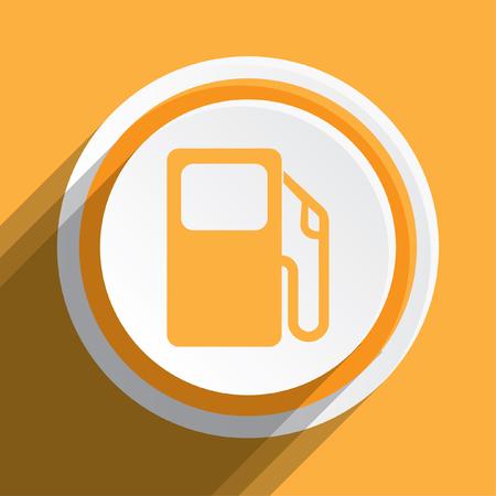 surtidor de gasolina: Una ilustración del icono aislado en un fondo - bomba de gasolina