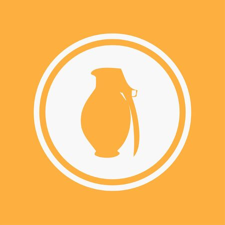 grenade: An Icon Illustration Isolated on a Background - Grenade