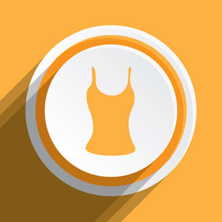 vest top: An Icon Illustration Isolated on a Background - Vest Top Stock Photo