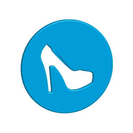 HEELS: An Icon Illustration Isolated on a Background - High Heels