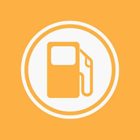 surtidor de gasolina: Una ilustraci�n del icono aislado en un fondo - bomba de gasolina
