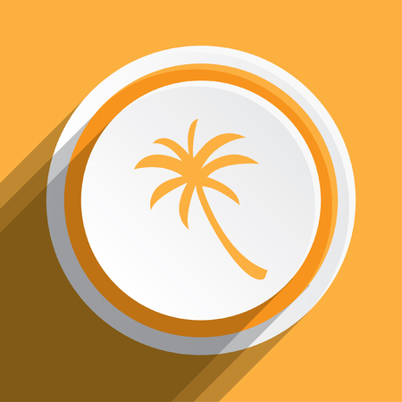 palmtree: An Icon Illustration Isolated on a Background - Palmtree