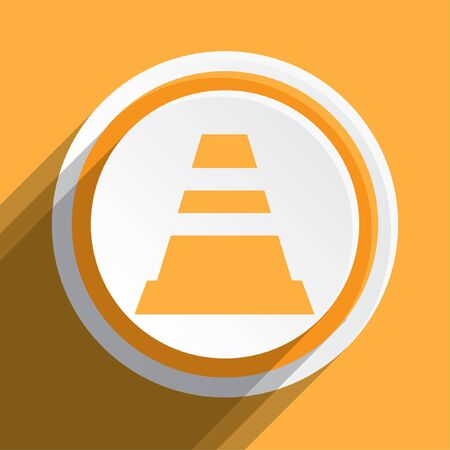 web button: An Icon Illustration Isolated on a Background - Traffic Cone