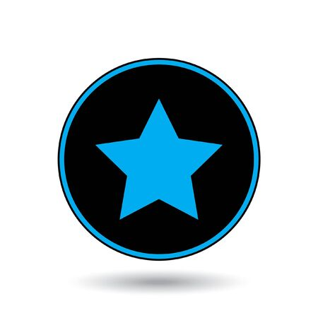 pointed to: An Icon Illustration Isolated on a Background - 5 Pointed Star