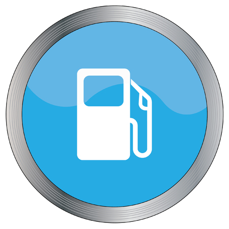 petrol pump: An Icon Illustration Isolated on a Background - Petrol Pump