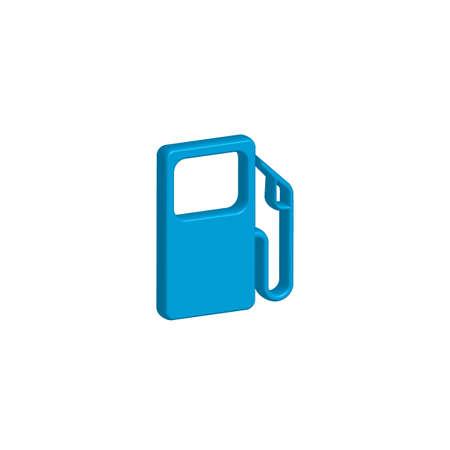 bomba de gasolina: Una ilustración del icono aislado en un fondo - bomba de gasolina