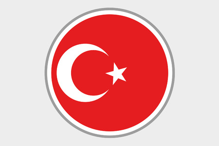 3d turkey: A 3D Isometric Flag Illustration of the country of Turkey Stock Photo