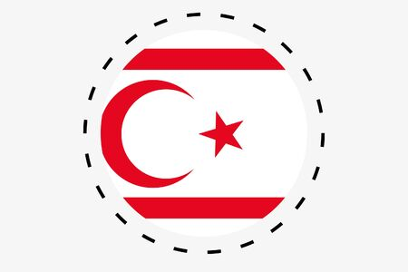 A 3D Isometric Flag Illustration of the country of Northern Cyprus