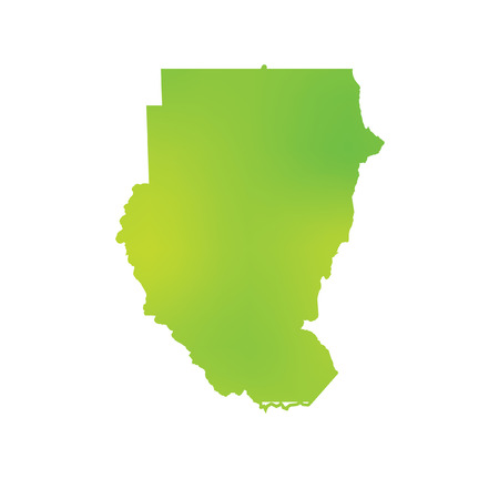 country: A Map of the country of Sudan Stock Photo