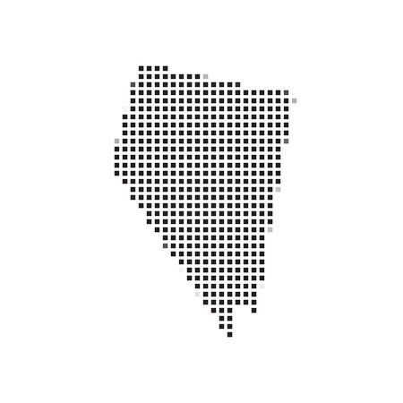 nevada: A Map of the the state  Nevada