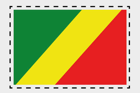 congo: A 3D Isometric Flag Illustration of the country of Congo