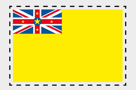 niue: A 3D Isometric Flag Illustration of the country of Niue