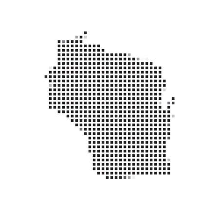 state wisconsin: A Map of the the state  Wisconsin Stock Photo