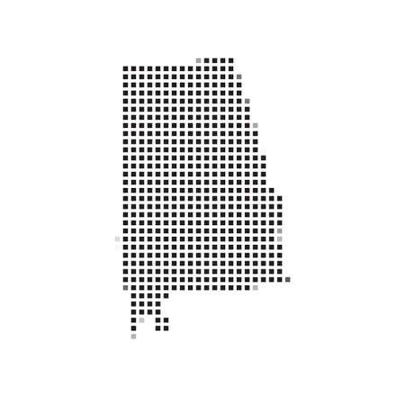 alabama: A Map of the the state  Alabama Stock Photo