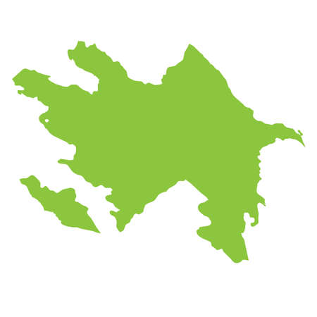 country: A Map of the country of Azerbaijan Stock Photo