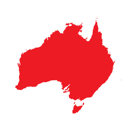 country: A Map of the country of Australia