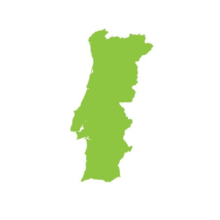 country: A Map of the country of Portugal Stock Photo