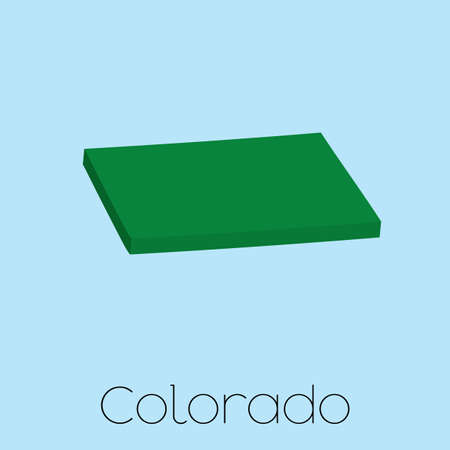 state of colorado: A Map of the the state Colorado Stock Photo