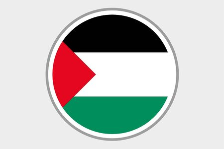 palestine: A 3D Isometric Flag Illustration of the country of Palestine Stock Photo