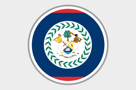 belize: A 3D Isometric Flag Illustration of the country of Belize Stock Photo
