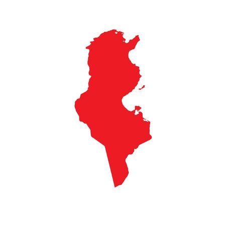 country: A Map of the country of Tunisia Stock Photo