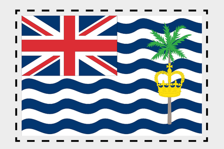indian ocean: A 3D Isometric Flag Illustration of the country of British Indian Ocean Territory