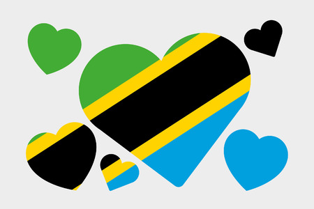 tanzania: A 3D Isometric Flag Illustration of the country of Tanzania Stock Photo